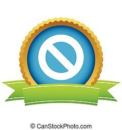 Gold sign ban logo