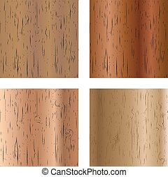 Set of wooden textures, vector