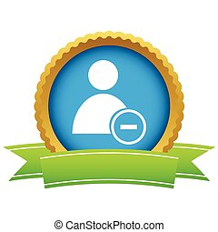 Gold remove user logo on a white background Vector...