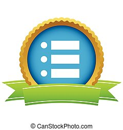 Gold ordinal list logo on a white background. Vector...