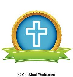 Gold Christianity logo