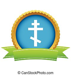 Gold orthodoxy logo on a white background Vector...