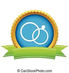 Gold wedding rings logo