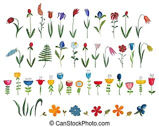 Mega collection of single flowers - Artistic work....