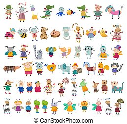 Mega collection of cartoon characte - Colorful graphic...