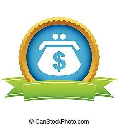 Gold dollar purse logo