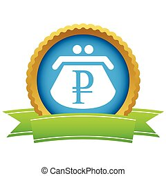 Gold rouble purse logo