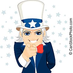 Uncle Sam Wants You - Old man disguised as Uncle Sam...
