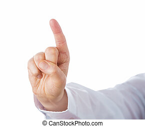 Right Hand Pointing Index Finger Upwards - Right hand...