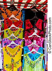 selection of colorful clothes - selection of colorful...