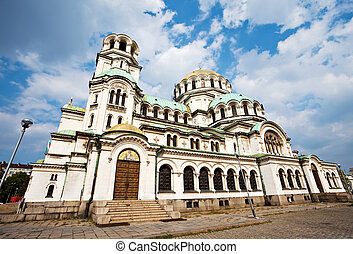 Alexander Nevsky cathedral Sofia - side view of svety...