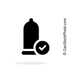 Condom Check icon on white background
