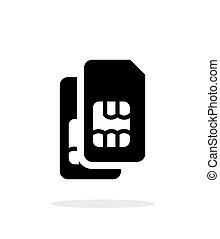 Dual SIM cards simple icon on white background. Vector...