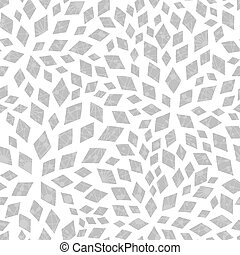Vector silver textured mosaic tiles seamless pattern background