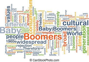 Baby boomers wordcloud concept illustration - Background...
