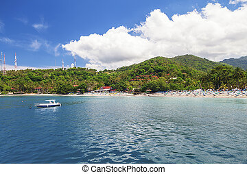 Lombok Indoneasia - Sunny view on the tropical island of...