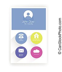 Flat Metro Style Business Card with Soft Colors
