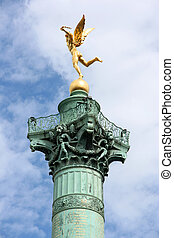 Paris monument - The July Column (French: Colonne de...