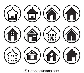 Set of 12 Home Icons