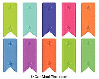 Vector: Bookmark Colorful Set - Bookmark Colorful Set...