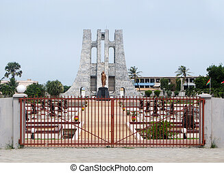 Memorial to Kwame Nkrumah in Accra Ghana - The monument...