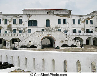 Elmina Castle in Ghana entrance - Elmina Castle was the exit...