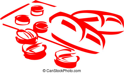 Pills symbol - Isolated sketch of pills as a concept of...