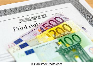 banconote, azione,  euro