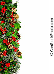 Christmas holly border - A Christmas border consisting of...