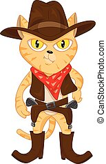 cute cat and revolvers