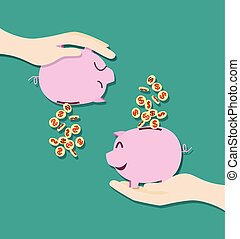 saving money - concept of saving money