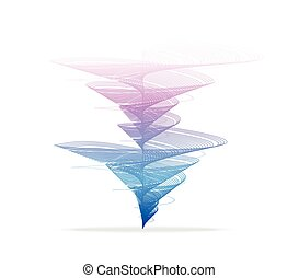 Vector tornado, vortex - Vector illustration Tornado, vortex...