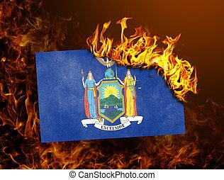 Flag burning - New York