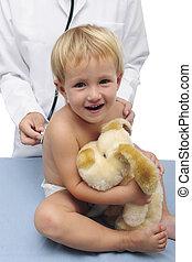 happy child and pediatrician