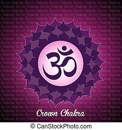 crown chakra - illustration of crown chakra