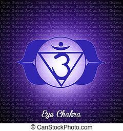 eye chakra - illustration of eye chakra