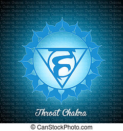 Throat chakra - illustration of throat chakra