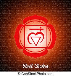 root chakra - illustration of root chakra