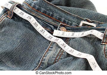 Measuring waste line - Measuring tape measuring 32 inches...