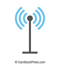 Antenna, signals, waves, beeper icon vector image Can also...