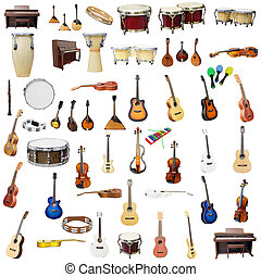 music instruments - The image of music instruments isolated...