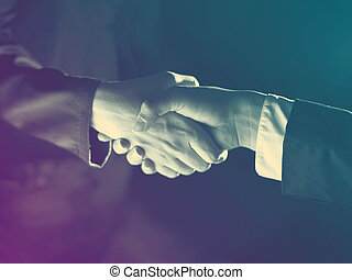 Handshake Handshaking and light - Handshake Handshaking dark...
