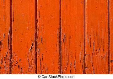 Orange wooden background texture