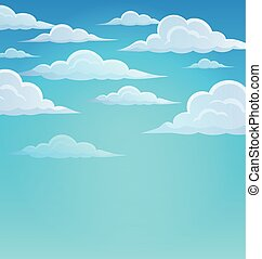 Clouds on sky theme 1 - eps10 vector illustration