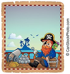 Parchment with pirate ship deck 7