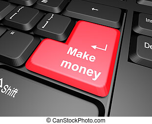 keyboard with make money button