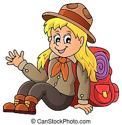 Scout girl theme image 1 - eps10 vector illustration.