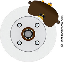 Hydraulic Disc Brake System - Typical automotive disc brake...