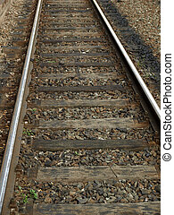 Railway railroad tracks - Detail of Railway railroad tracks...
