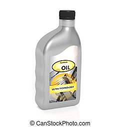 Motor oil, isolated on white background